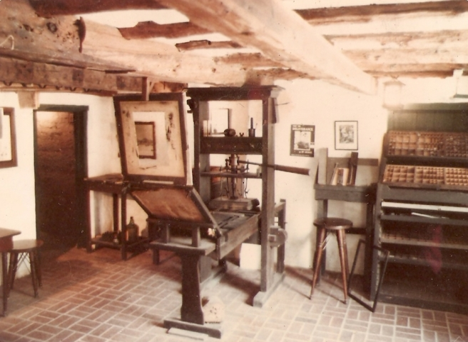 Replica of Guttenberg printing press from wikipedia